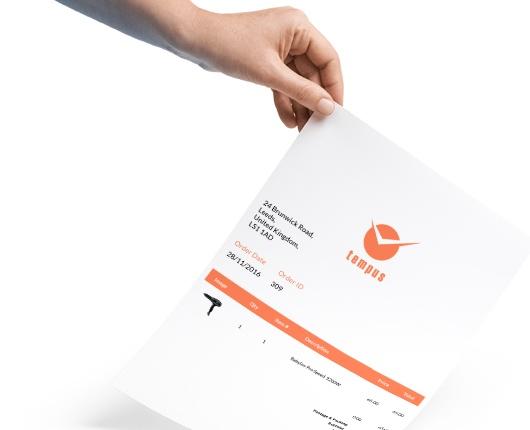 invoice-hand