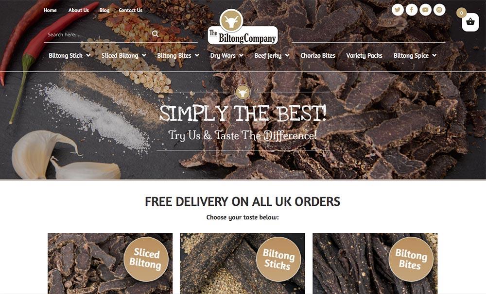 biltong company web design