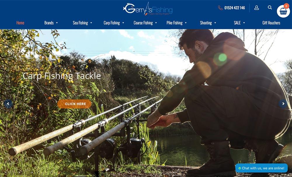 gerrys-fishing web design